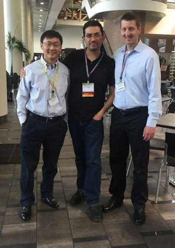 Picture of Dr. Zhou, Dr. Kirby and Dr. Franco at the 2016 SOT Annual Meeting