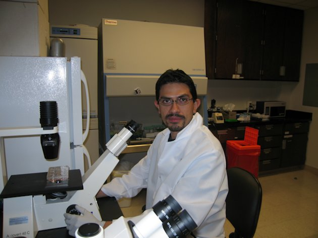 Picture of Dr. Franco in Lab