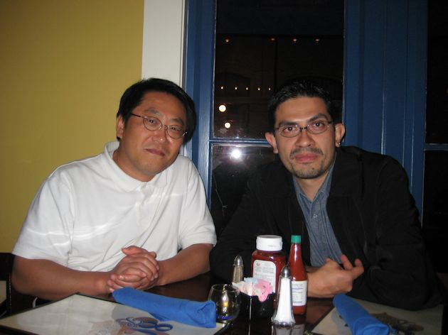 Picture of Franco with Dr Choi at SFN 2012